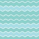 Nahtloses Muster von Wellen Lizenzfreies Stockfoto