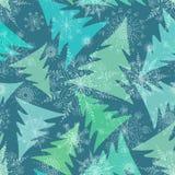 Nahtloses Muster von Wintertannenbäumen Stockbilder