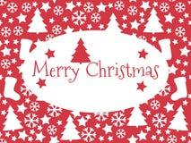 Nahtloses Muster Weiße Schneeflocken auf einem blauen Hintergrund Weihnachten Weihnachtsbaum, Stock Abbildung