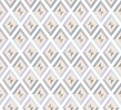 Nahtloses Muster. weiße und graue Diamanten Stockfotos