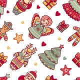 Nahtloses Muster Weihnachten Lizenzfreies Stockfoto