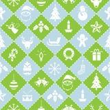 Nahtloses Muster: Weihnachtsgegenstände Lizenzfreies Stockbild