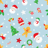 Nahtloses Muster: Weihnachtsgegenstände Stockfotos