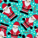 nahtloses Muster Weihnachtsmanns Lizenzfreies Stockfoto