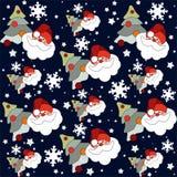 Nahtloses Muster Weihnachtsmanns Lizenzfreie Stockbilder