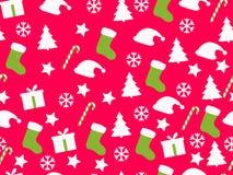 Nahtloses Muster Weihnachtsmuster mit Geschenkboxen, Weihnachten t Vektor Abbildung
