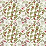Nahtloses Muster, Winter, Herbst Stockbild