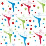 Nahtloses Muster Yogahaltungen als nahtloser Hintergrund ENV, JPG Stockbilder