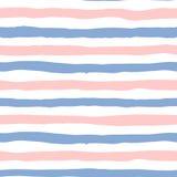 Nahtloses Muster zeichnet in der Farb-Rosenquarz 2016 und -Ruhe Stockfotografie