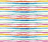 Nahtloses Musteraquarell Horizontal gefärbt Stockfotos