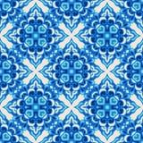 Nahtloses Musterblau Lizenzfreie Stockfotos