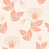 Nahtloses Musterelement der Vektorblume Elegante Beschaffenheit für Hintergründe Klassische altmodische Blumenluxusverzierung lizenzfreie abbildung