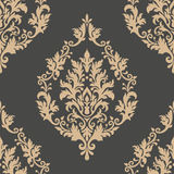 Nahtloses Musterelement des Vektordamastes Klassische altmodische Damastluxusverzierung, nahtlose Beschaffenheit des königlichen  Stockbilder