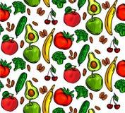 Nahtloses Mustergemüse Stockbilder