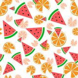 Nahtloses Musterlebensmittel Wassermelone und lizenzfreie abbildung