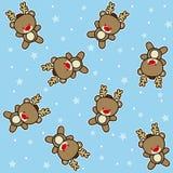 Nahtloses Musterren des Weihnachtsmotivs Stockfotos