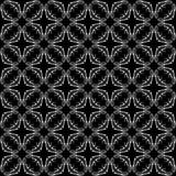 Nahtloses Musterschwarzweiss-design des Vektors Stockfotografie