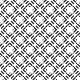 Nahtloses Musterschwarzweiss-design des Vektors Stockfoto