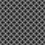 Nahtloses Musterschwarzweiss-design des Vektors Lizenzfreies Stockbild