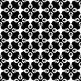 Nahtloses Musterschwarzweiss-design des Vektors Lizenzfreies Stockfoto