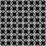 Nahtloses Musterschwarzweiss-design des Vektors Stockbild