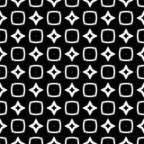 Nahtloses Musterschwarzweiss-design des Vektors Lizenzfreie Stockfotos