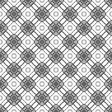 Nahtloses Musterschwarzweiss-design des Vektors Lizenzfreie Stockfotografie