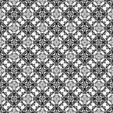 Nahtloses Musterschwarzweiss-design des Vektors Stockbilder