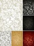 Nahtloses Musterset von sechs Farben Stockfotografie