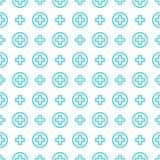 Nahtloses Mustervektorverzierungskreuz und -medizin lizenzfreie abbildung