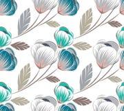 Nahtloses nettes Blumenmuster vektor abbildung