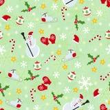 Nahtloses nettes Weihnachtsmuster Stockbilder