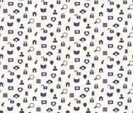 Nahtloses Netz Ikonen- und simbolsmuster Lizenzfreies Stockbild