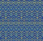 Nahtloses nordisches Strickwarenmuster, Winterweihnachtshintergrund, Karte Entwurf für Kreuzstich und Häkelarbeit Stockfotos