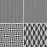 Nahtloses OPkunst-Hintergrund-Muster-Set Lizenzfreies Stockfoto