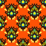 Nahtloses orange Muster Lizenzfreie Stockbilder