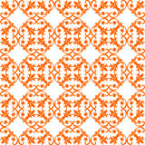 Nahtloses orange Muster auf weißem Hintergrund Lizenzfreies Stockbild