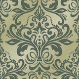 Nahtloses orientalisches Muster Nahtlose Grenze des Vektors im viktorianischen Stil Damast Wallpaper Stockfoto