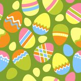 Nahtloses Ostern-Muster mit Eiern Stockfotos