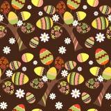 Nahtloses Ostern-Muster mit Eiern Lizenzfreie Stockbilder