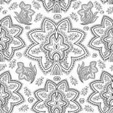 Nahtloses paisely Muster Stockbilder