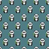 Nahtloses Pandabärnmuster Stockbild