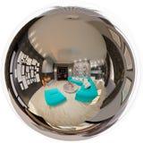 Nahtloses Panorama der Illustration des Wohnzimmerinnenraums Lizenzfreie Stockfotos