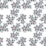 Nahtloses Perlenperlen-Schmuckmuster auf Weiß Stockbild