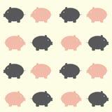nahtloses piggy Muster Stockbilder