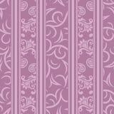 Nahtloses purpurrotes dekoratives dekoratives Muster Lizenzfreie Stockfotos