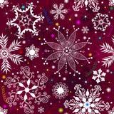 Nahtloses purpurrotes Weihnachtsmuster Stockbilder