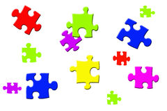 Nahtloses Puzzlespielmuster Stock Abbildung