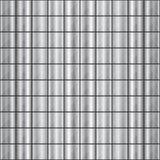 Nahtloses Quadrat formte Stahl verziertes Muster lizenzfreie abbildung