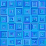 Nahtloses quadratisches blaues Muster Stockfotografie